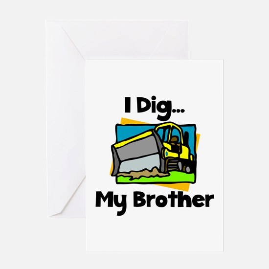 Dig Brother Greeting Card