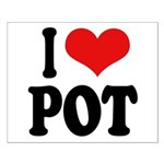 I Love Pot (word) Small Poster