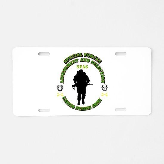 SOF - SFAS Aluminum License Plate