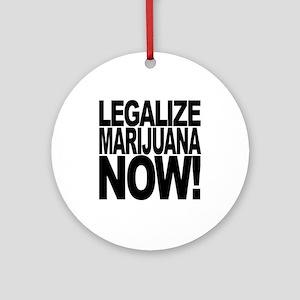 Legalize Marijuana Now Ornament (Round)