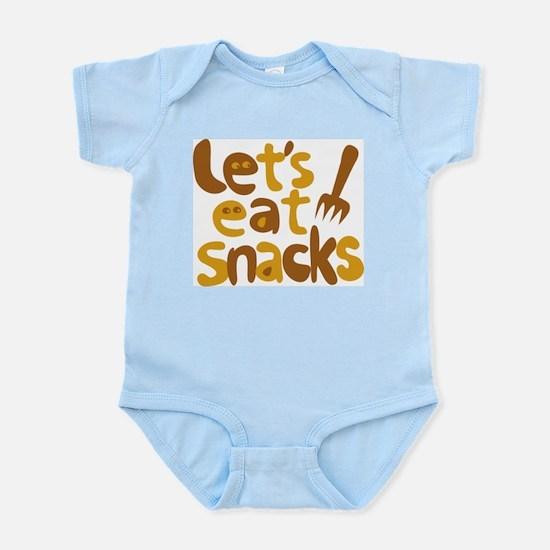 Let's Eat Snacks Infant Creeper