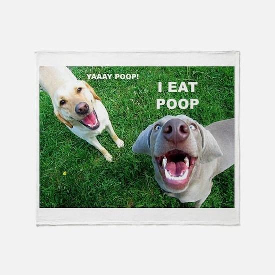 Yaay Poop! Throw Blanket