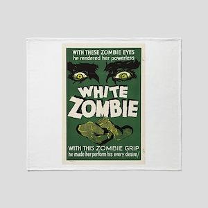 White Zombie Throw Blanket