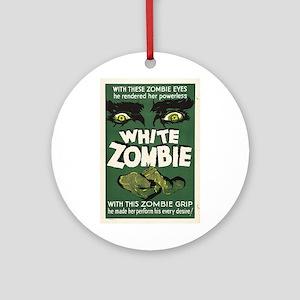 White Zombie Ornament (Round)