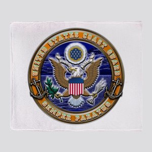 USCG Eagle & Anchors Throw Blanket