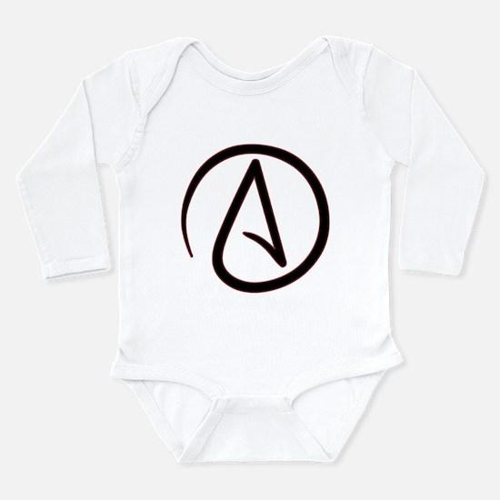 Atheist Symbol Long Sleeve Infant Bodysuit