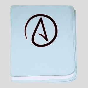 Atheist Symbol baby blanket