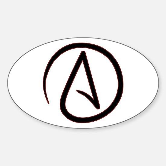 Atheist Symbol Sticker (Oval)