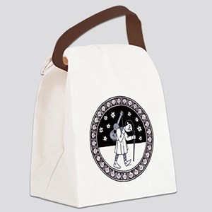 Pilgrim with Guitar Canvas Lunch Bag
