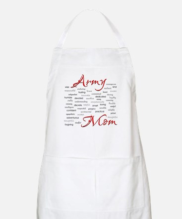 Army Mom poem in words BBQ Apron