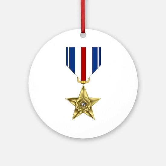 Silver Star Ornament (Round)