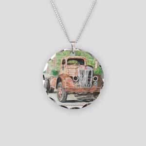 """She were a good Ol' Truck"" Necklace Circle Charm"