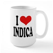 I Love Indica Large Mug