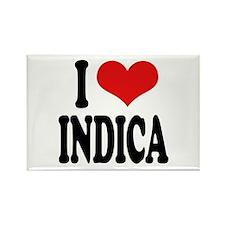 I Love Indica Rectangle Magnet
