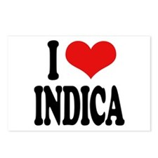 I Love Indica Postcards (Package of 8)