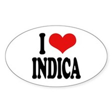 I Love Indica Sticker (Oval)