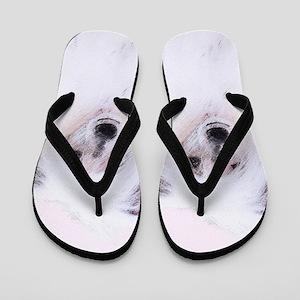 Chinese Crested (Powderpuff) Flip Flops