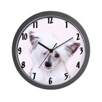 Chinese Crested (Powderpuff) Wall Clock