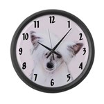 Chinese Crested (Powderpuff) Large Wall Clock