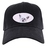 Chinese Crested (Powderpuff) Black Cap with Patch