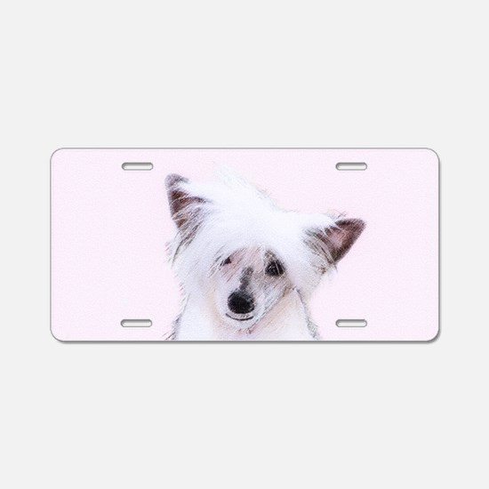 Chinese Crested (Powderpuff Aluminum License Plate