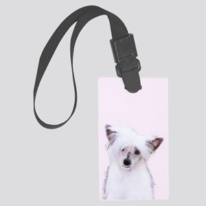Chinese Crested (Powderpuff) Large Luggage Tag
