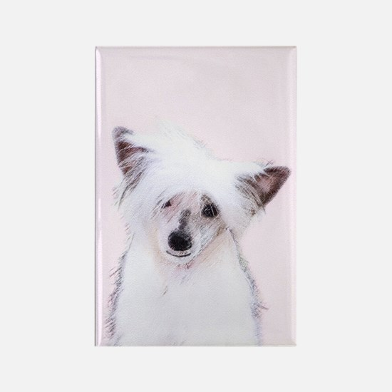 Chinese Crested (Powderpuff) Rectangle Magnet