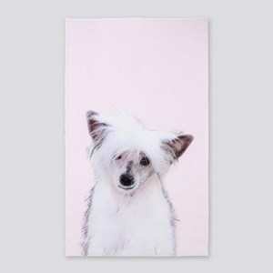Chinese Crested (Powderpuff) Area Rug