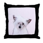 Chinese Crested (Powderpuff) Throw Pillow