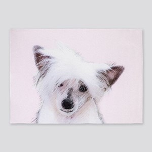 Chinese Crested (Powderpuff) 5'x7'Area Rug