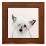 Chinese Crested (Powderpuff) Framed Tile