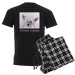 Chinese Crested (Powderpuff) Men's Dark Pajamas