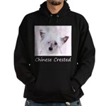 Chinese Crested (Powderpuff) Hoodie (dark)