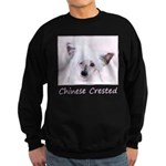 Chinese Crested (Powderpuff) Sweatshirt (dark)
