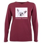 Chinese Crested (Powderp Plus Size Long Sleeve Tee