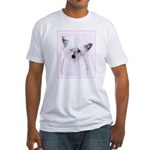 Chinese Crested (Powderpuff) Fitted T-Shirt