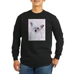 Chinese Crested (Powderpu Long Sleeve Dark T-Shirt