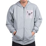 Chinese Crested (Powderpuff) Zip Hoodie