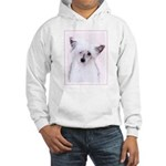 Chinese Crested (Powderpuff) Hooded Sweatshirt