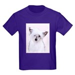 Chinese Crested (Powderpuff) Kids Dark T-Shirt