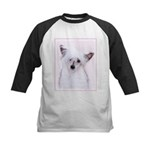 Chinese Crested (Powderpuff) Kids Baseball Jersey