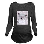 Chinese Crested (Pow Long Sleeve Maternity T-Shirt