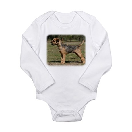 Border Terrier 9Y325D-033 Long Sleeve Infant Bodys