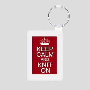 Customisable Keep Calm and Kn Aluminum Photo Keych