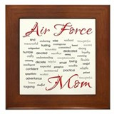 Proud air force mom Framed Tiles