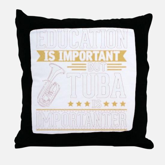 Unique Tuba Throw Pillow