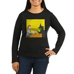 Pina Coladas (no text) Women's Long Sleeve Dark T-