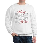 Navy Mom Poem of words Sweatshirt