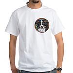 Tam's Tri White T-Shirt, pocket area