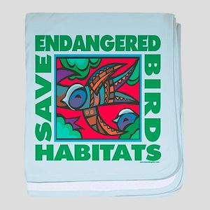 Save Bird Habitats baby blanket